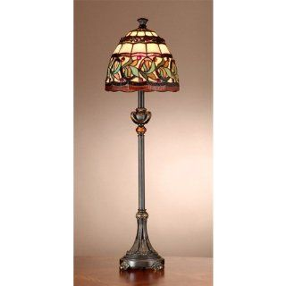 Dale Tiffany TB101109 Aldridge Buffet Lamp, Antique Bronze   Floor Lamps