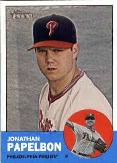 2012 Topps Heritage 136 Jonathan Papelbon   Philadelphia Phillies (Encased MLB Trading Card) Sports Collectibles