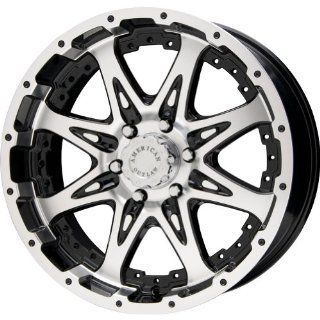 "American Outlaw Buckshot Black Machined Face Wheel with Machined Finish (18x8.5""/6x139.7mm) Automotive"