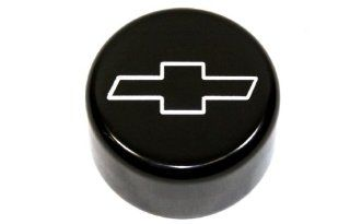 Billet Custom (GMBC 146 EMB BLK) Black Windshield Washer Cap with Bowtie Logo for Chevrolet Camaro Automotive