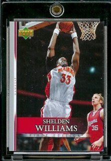 2007 08 Upper Deck First Edition # 147 Shelden Williams   NBA Basketball Trading Card in a Protective Display Case Sports Collectibles