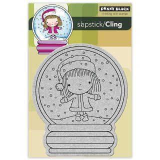 Penny Black 40 154 Christmas Stage Cling Rubber Stamp Arts, Crafts & Sewing