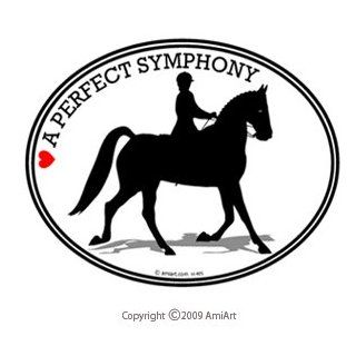 Dressage Horse   A PERFECT SYMPHONY  Equestrian Dressage Horse   Car Bumper Sticker Decal for Horse Riders. Automotive