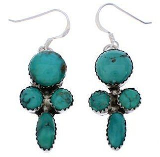 Silver Turquoise Navajo Native American Indian Earrings RS76581 SilverTribe Jewelry