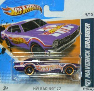 Hot Wheels Hw Racing 12 Purple '71 Maverick Grabber on Short Card 179/247 Toys & Games