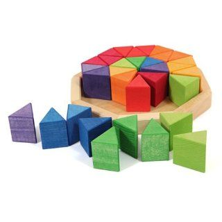 Grimm's Medium Octagon Form Building Set   Wooden Mosaic Block Puzzle, 32 Triangles Toys & Games