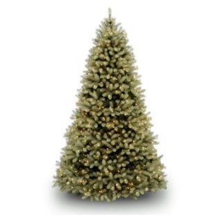 7.5 ft. Feel Real Down Swept Douglas Fir Hinged Pre Lit Dual Color LED Christmas Tree   Christmas Trees