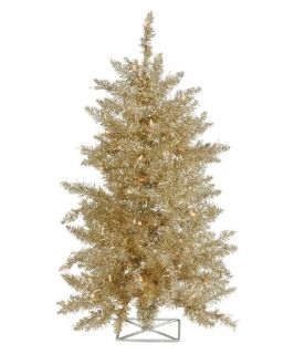 Vickerman 3 ft. Champagne Pre lit Christmas Tree   Christmas Trees