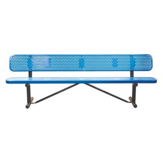 10 ft. Multicolor Personalized Perforated Standard Sports Bench   Commercial Benches