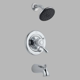 Delta Leland T17478 Monitor 17 Series Wall Mount Tub and Shower Trim Set   Bathtub Faucets