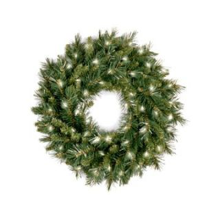 24 in. Tiffany Fir Pre lit Wreath   Christmas Wreaths