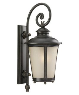 Sea Gull Cape May Outdoor Wall Lantern   26.5H in. Burled Iron   Outdoor Wall Lights