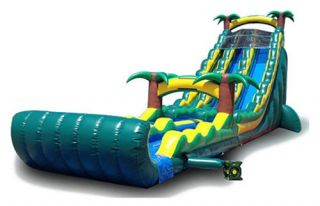 EZ Inflatables 27 ft. Tropical Water Slide   Commercial Inflatables