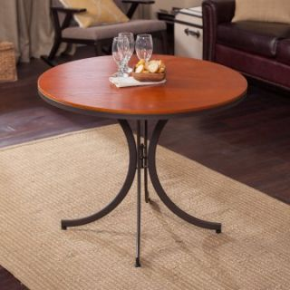 Meco Innobella Destiny 36 in. Round Wood Folding Table   Mission Rosso   Dining Tables
