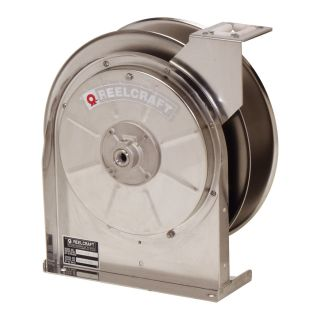 Reelcraft Stainless Steel Air/Water 3/8 in. Hose Reel   35 ft.   Equipment