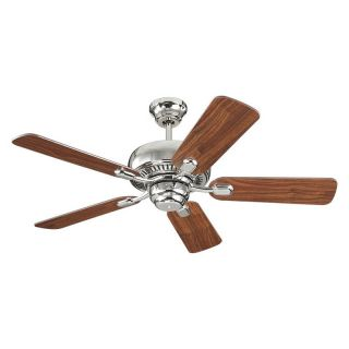 Monte Carlo 5CQ44PN Centro II 44 in. Indoor Ceiling Fan   Polished Nickel   Ceiling Fans
