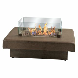 Palazetto 48 in. Gas Fire Table   Chestnut