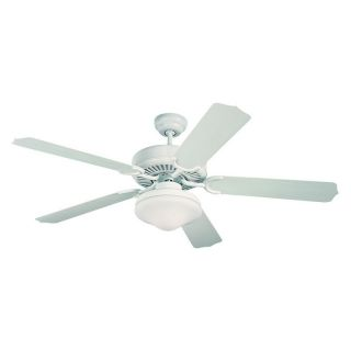 Monte Carlo 5WF52WHD L Weatherford Deluxe 52 in. Indoor / Outdoor Ceiling Fan   White   Outdoor Ceiling Fans