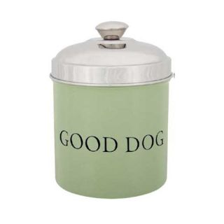Pet Studio Good Dog 56 ounce Treat Canister   Dog Food Storage Containers
