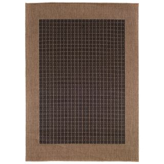 Couristan Recife Checkered Field Indoor/Outdoor Area Rug   Black/Cocoa   Area Rugs