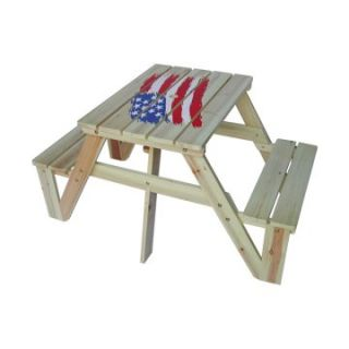 Kids Picnic Table   American Flag   Kids Picnic Tables