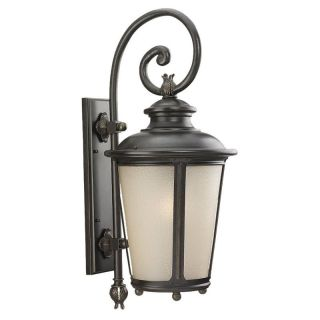 Sea Gull Cape May Outdoor Wall Lantern   29.75H in. Burled Iron   Outdoor Wall Lights