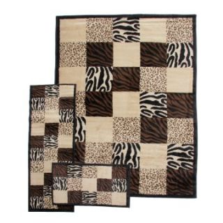 Desire Black Area Rug   3 pc. Set   Area Rugs