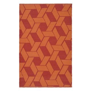 Thom Filicia by Safavieh,Durston TMF124A Indoor/Outdoor Area Rug Blood/Orange   Rugs