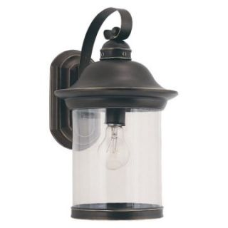 Sea Gull Hermitage Outdoor Wall Lantern   15.25H in. Antique Bronze   Outdoor Wall Lights