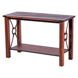 New Rustics Home Modern Lodge Collection Wood and Metal Sofa Table   Small   Console Tables