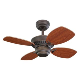 Monte Carlo 4CO28RB Colony II 28 in. Indoor Ceiling Fan   Roman Bronze   Ceiling Fans