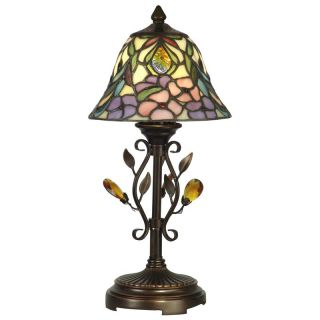Dale Tiffany Crystal Peony Accent Lamp   Tiffany Table Lamps