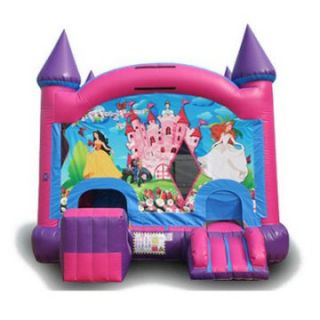 EZ Inflatables Digital Princess Combo Bounce House   Commercial Inflatables