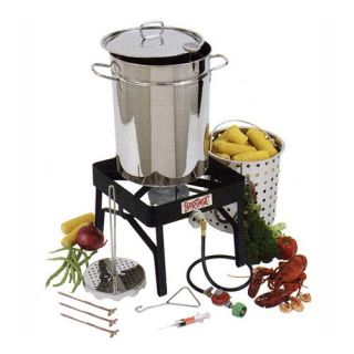 Bayou Classic Stainless Steel Outdoor Turkey Fryer Kit   32 qt.   Turkey Fryers