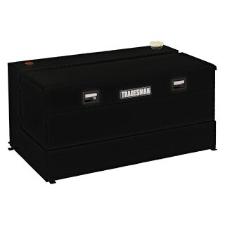Tradesman Steel L Shaped 48 in. Box Combo Tank   Black   Truck Tool Boxes