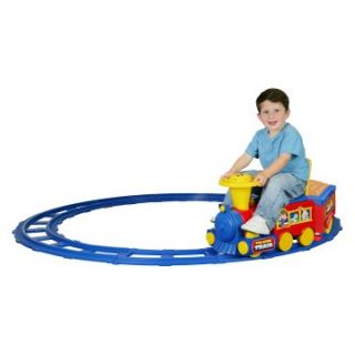 Kid Motorz 6 Volt Talking Train with Tracks Battery Powered Riding Toy   Battery Powered Riding Toys