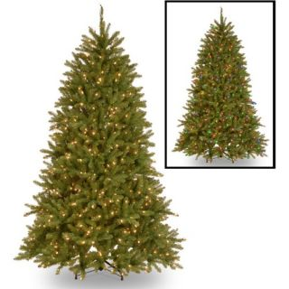 7.5 ft. Dunhill Fir Hinged Pre Lit Christmas Tree   Dual Color LED Lights and On/Off Switch   Christmas Trees