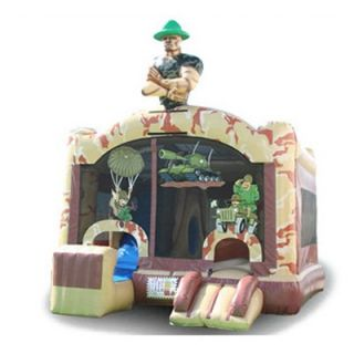 EZ Inflatables Sergeant 5 N 1 Combo Bounce House   Commercial Inflatables