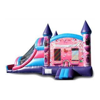 EZ Inflatables Digital Princess Bounce House Combo   Commercial Inflatables