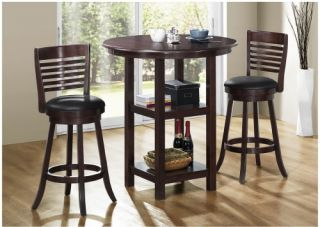 Monarch Cappuccino Bar Height Dining Table   Pub Tables