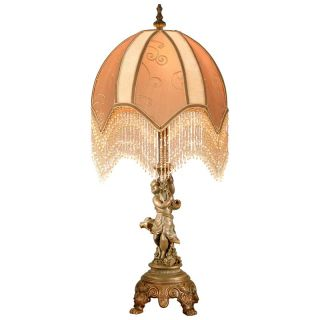 Dale Tiffany Cherub Victorian Table Lamp   Tiffany Table Lamps