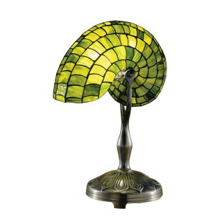 Dale Tiffany Green Nautilus Table Lamp   Tiffany Table Lamps