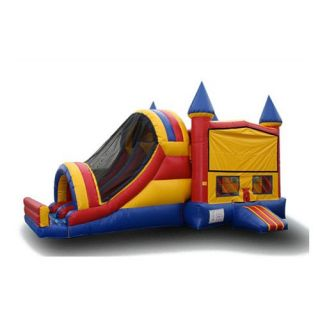 EZ Inflatables Primary Castle Module Combo Bounce House   Commercial Inflatables
