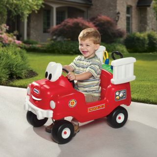 Little Tikes Spray & Rescue Fire Truck Riding Toy   Riding Push Toys