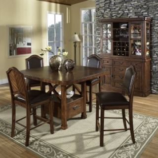 Somerton Dwelling Barrington 5 piece Counter Height Table Set   Dining Table Sets
