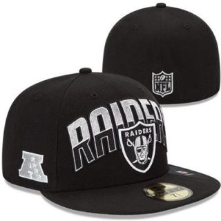 New Era Oakland Raiders 2013 NFL Draft 59FIFTY Fitted Hat   Black