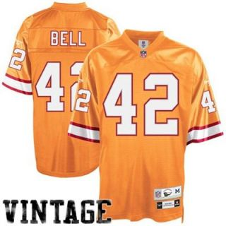 Reebok NFL Equipment Tampa Bay Buccaneers #42 Ricky Bell Orange Glaze Tackle Twill Throwback Football Jersey