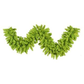 Vickerman 9 ft. Flocked Lime Pre lit Garland   Christmas Garland