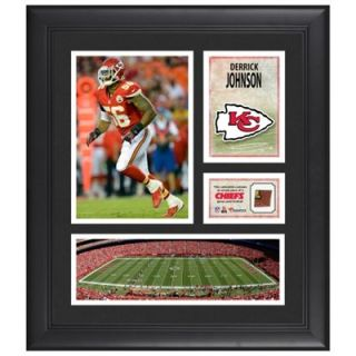 Derrick Johnson Kansas City Chiefs Framed 15 x 17 Collage with Game Used Football