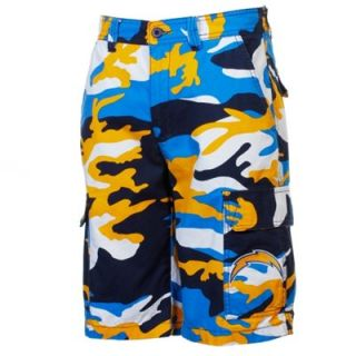San Diego Chargers Camo Shorts   Gold/Navy Blue